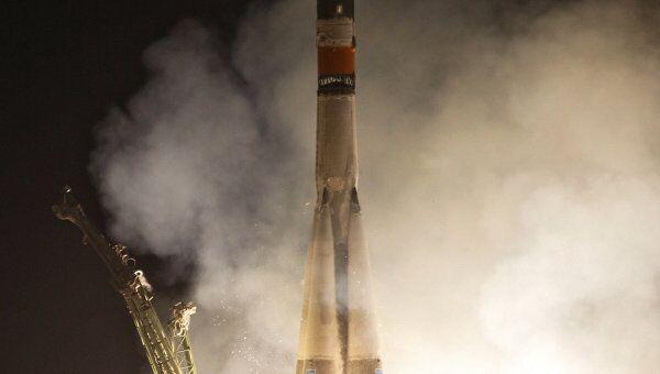 Пуск РН Союз-ФГ с пилотируемым космическим кораблем Союз ТМА-02М к МКС