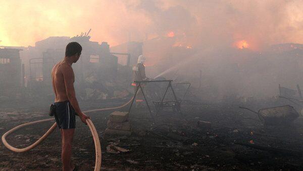 Пожар на ферме в поселке Новая Мельница Новгородской области
