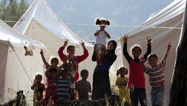 Беженцы на сирийско-турецкой границе