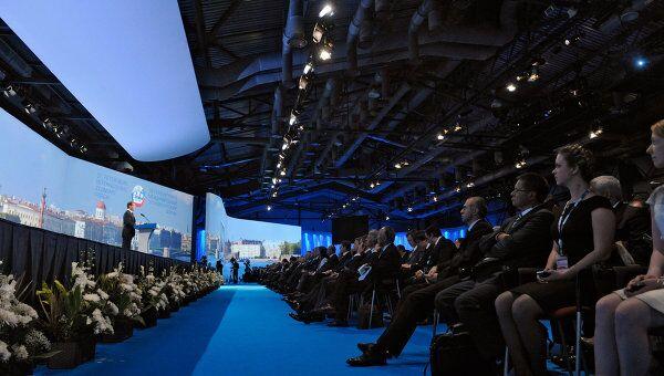 Дмитрий Медведев открывает XV Петербургский международный экономический форум