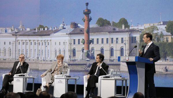 Д.Медведев на XV ПМЭФ в Санкт-Петербурге