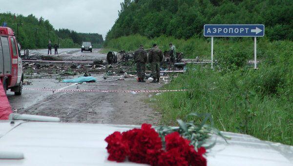 На месте аварии Ту-134 в Карелии. Архив