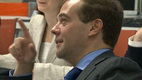 Медведев участвует в мультимедийной планерке РИА Новости