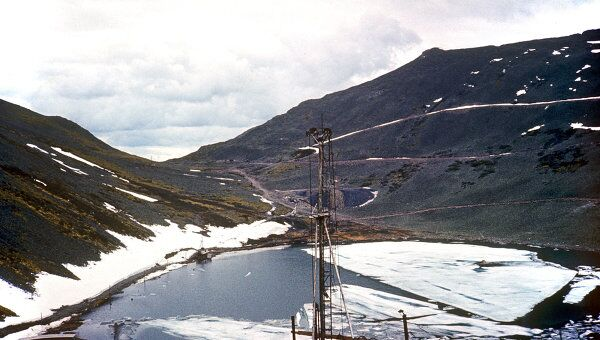 Буровая установка месторождения медных руд. Архивное фото