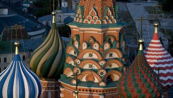 Купола Храма Василия Блаженного на Красной площади