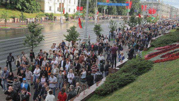ия белорусской оппозиции Революция через социальную сеть в Минске в конце июня