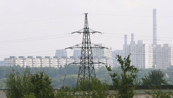 Линии электропередач в Минске