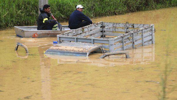 Наводнение в Мексике после шторма Арлен