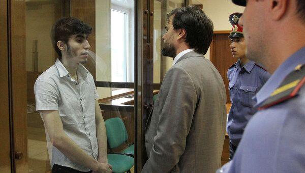 Заседание Мосгорсуда по делу о продлении срока ареста обвиняемым в убийстве Юрия Волкова
