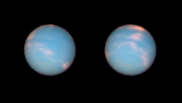 «Юбилейная» фотография Нептуна, сделанная орбитальным телескопом «Хаббл»