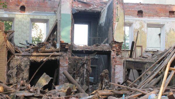 Разрушение особняка в Большом Козихинском переулке, 25. Архив