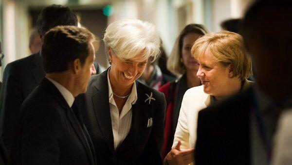 Лидеры стран еврозоны на саммите в Брюсселе