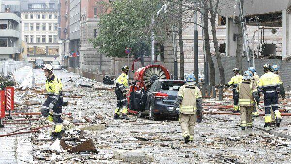 Взрыв в центре Осло