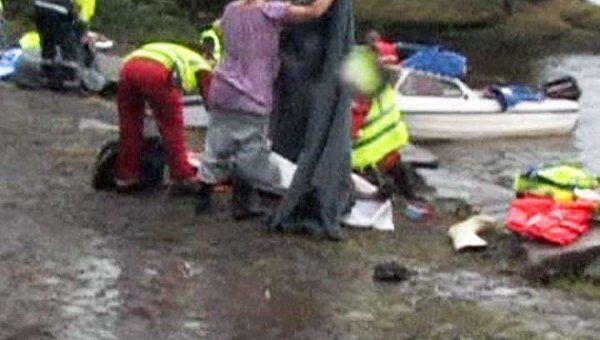 Видео, снятое при облете острова, на котором произошел теракт