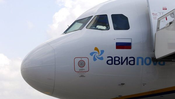 Самолет авиакомпании Авиаnova. Архив