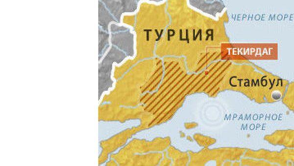 Землетрясение магнитудой 5,2 произошло в европейской части Турции