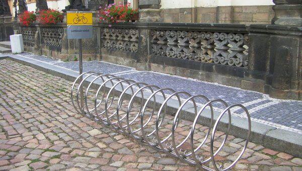 велопарковки в Праге