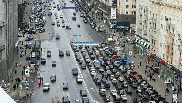 Вид на Тверскую улицу. Архив