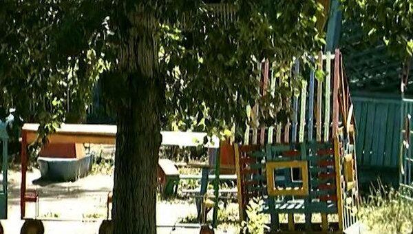 Кадр из видео взрыва в детском саду Комсомольска-на-Амуре