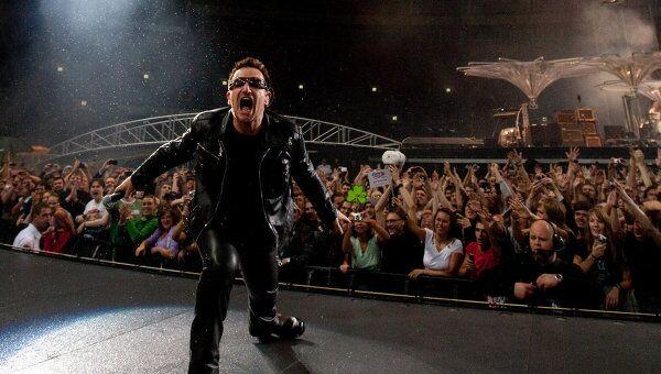 Солист ирландской группы U2 Боно. Архивное фото