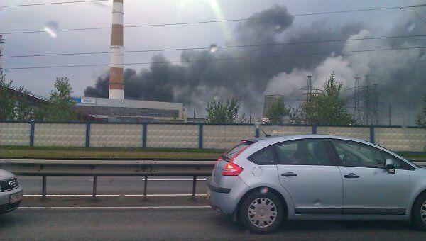 Пожар на ТЭЦ в Мытищах