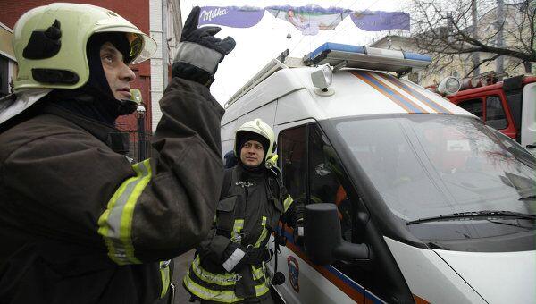 Пожар в офисно-административном здании в центре Москвы