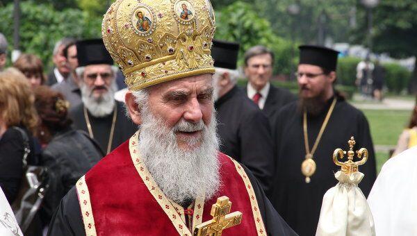 Глава Сербской православной церкви патриарх Ириней. Архивное фото