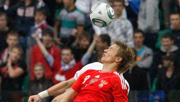 Игровой момент матча Россия - Сербия