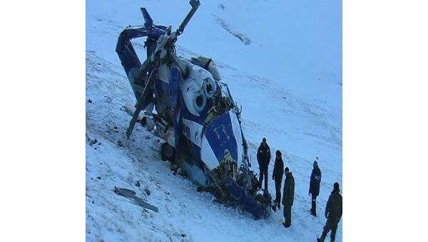 Фото вертолета Ми-8, разбившегося на Алтае 9 января