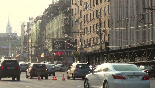 Крупное ДТП в центре Москвы