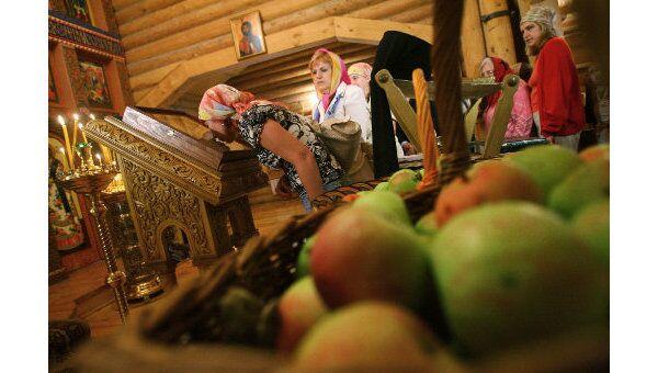 Освящение яблок в праздник Преображения Господня