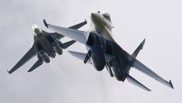 Истребители Су-27 пилотажной группы Соколы России. Архивное фото.