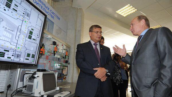 Премьер-министр РФ В.Путин посетил государственного строительного университета (МГСУ)