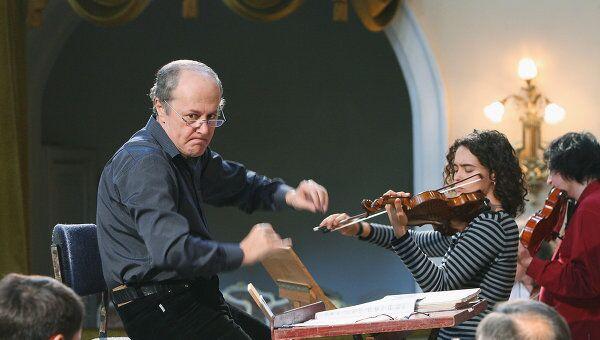 М.Горенштейн во время открытой репетиции