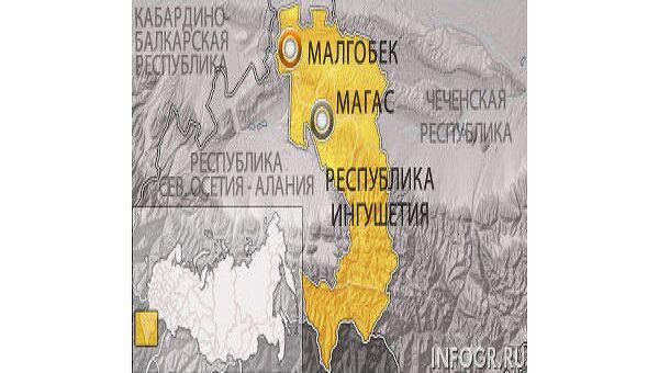 Малгобек. Карта