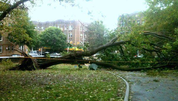 Последствия урагана Айрин