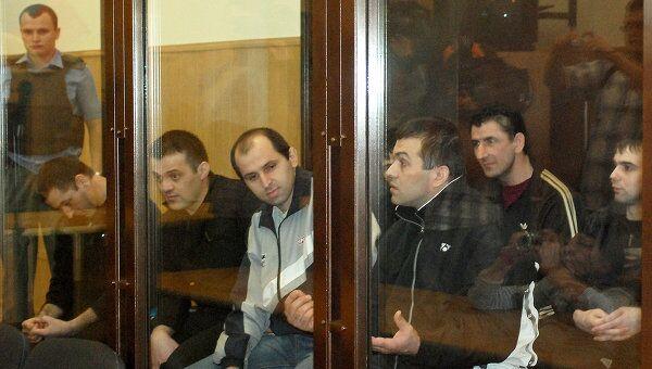 Обвиняемые в зале Тверского областного суда. Архив