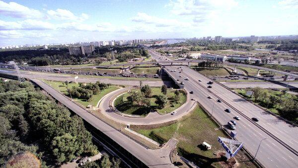 Ленинградское шоссе. Развязка на выезде из Москвы. Архив