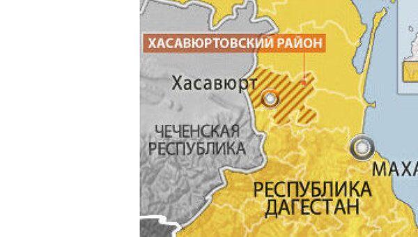 Хасавюрт, Дагестан. Карта