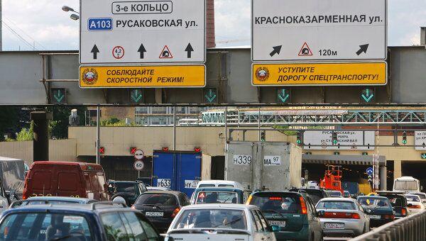 В Лефортовском тоннеле в Москве. Архив