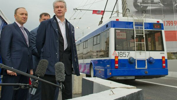 Мэр Москвы Сергей Собянин открыл движение по дублеру Волоколамского тоннеля
