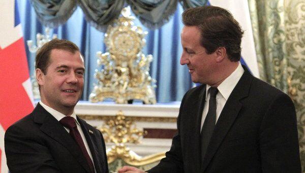 Визит премьер-министра Великобритании Дэвида Кэмерона в Москву