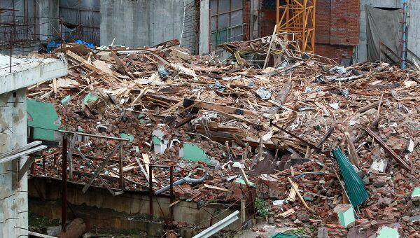 На месте сноса исторического здания, архивное фото