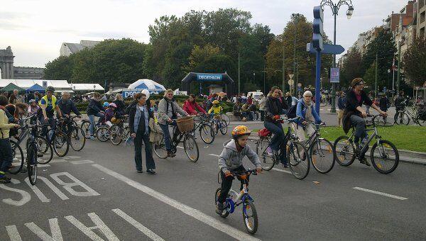 Ежегодный День без автомобиля в Брюсселе. Архив