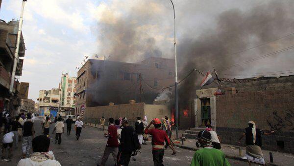 Антиправительственные протесты в столице Йемена Сане
