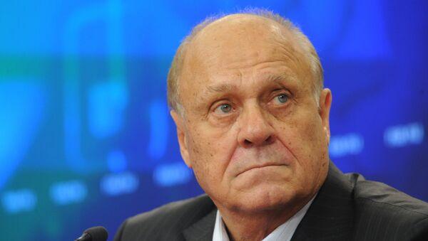 Председатель российского оскаровского комитета, кинорежиссер Владимир Меньшов дал пресс-конференцию в РИА Новости