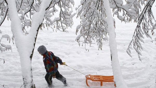 Снегопад в Косово
