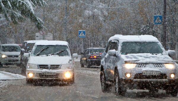 Снег на острове Сахалин. Архив