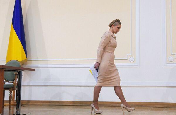 Юлия Тимошенко на пресс-конференции в Киеве