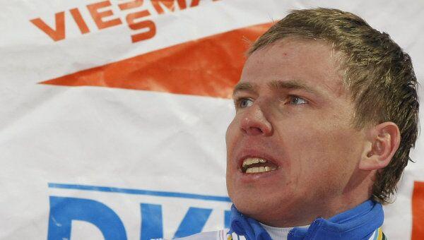 Российский биатлонист Иван Черезов